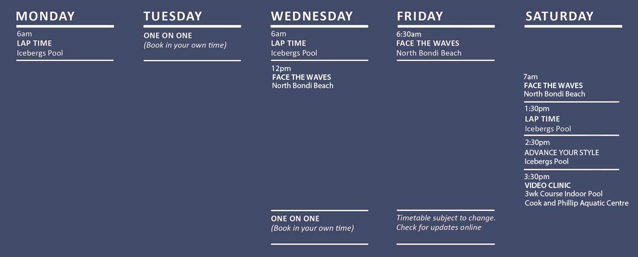 Salty Fit Swim Fitness Training Summer Schedule